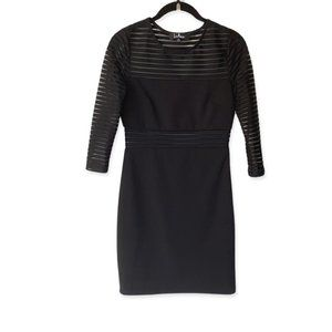 Lulus Black Mesh Panel Bodycon Stretch Mini Dress